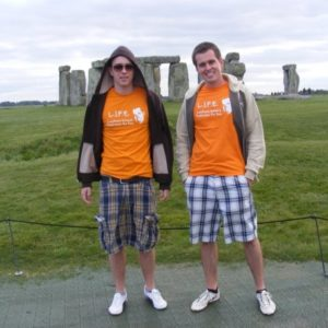 Stonehenge - David and Jacek Kawecki at Stonehenge in September 2009
