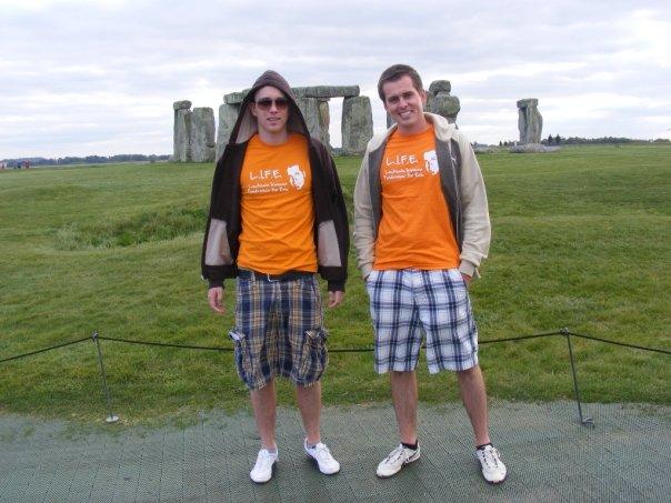 Stonehenge - David and Jacek Kawecki at Stonehenge in September 2009